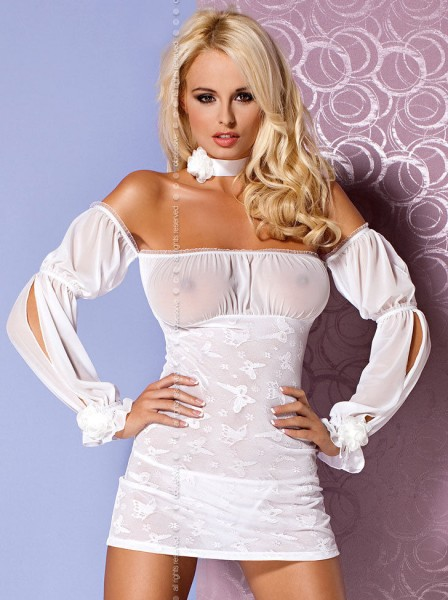 Mistia Chemise / Neglige in weiss von Obsessive