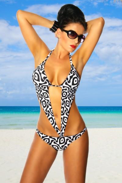 Jade Badeanzug / Body mit Schmuckelement von Somnia Luna