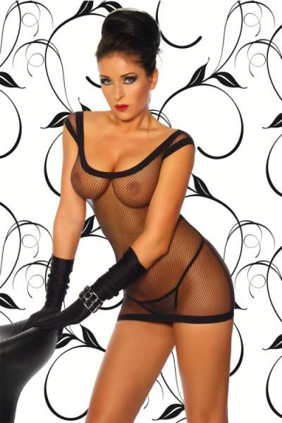 Netzkleid Minikleid Awelina in schwarz