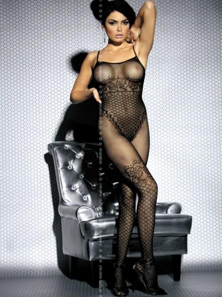 Catsuit F202 aus Netzmaterial in schwarz von Obsessive