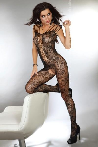 Ärmelloses Catsuit Nikandra in schwarz von Livco Corsetti