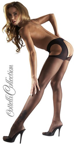 Sexy Strumpfhose in schwarz von Cottelli Collection