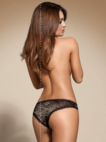 Slip, Aurea Panty, elegant und glitzernd in schwarz von Obsessive