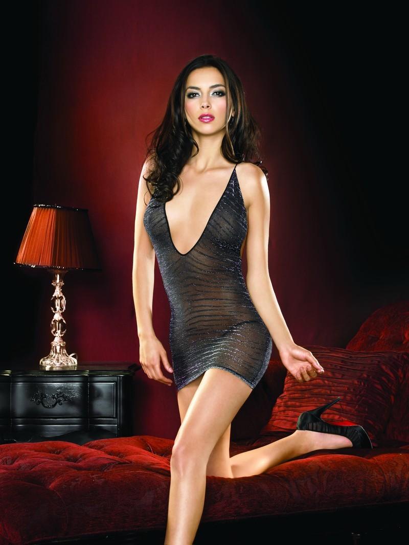 neglige zebra pattern lurex minidress von leg avenue sexy minikleider sexy kleider. Black Bedroom Furniture Sets. Home Design Ideas